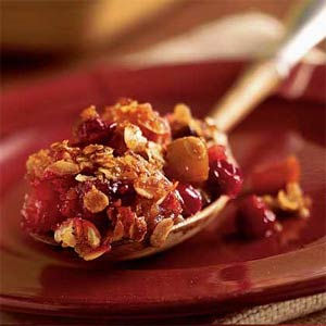 From Cooking Light: Apple Cranberry Crisp