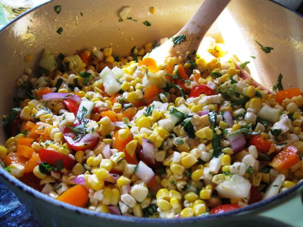 Sweet Corn Salad with Fresh Herbs and Feta | Flavorista
